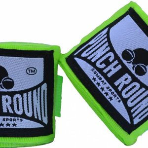 Punch Round™  Punch Round Perfect Stretch Hand Wraps Neo Green Nylon 460 cm