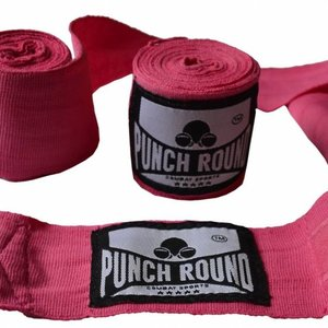 Punch Round™  Punch Round Perfect Stretch Hand Wraps Pink Nylon 260 cm