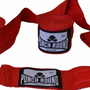 Punch Round™  Punch Round Perfect Stretch Hand Wraps Red Nylon 260 cm