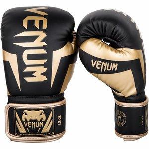 Venum Venum Boxing Gloves Elite Black Gold Martial Arts Equipment