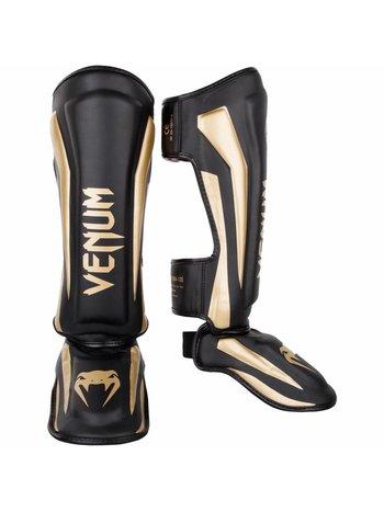 Venum Venum SchienbeinschonerElite Schwarz Gold Kickboxing