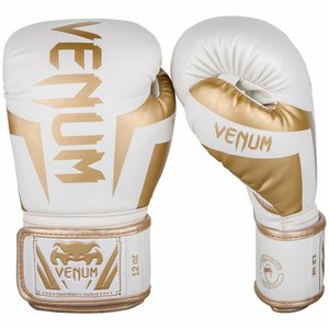 Venum Venum Boxing Gloves Elite White Gold Venum Fight Equipment