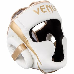 Venum Venum Elite Headgear White Gold Head Protection