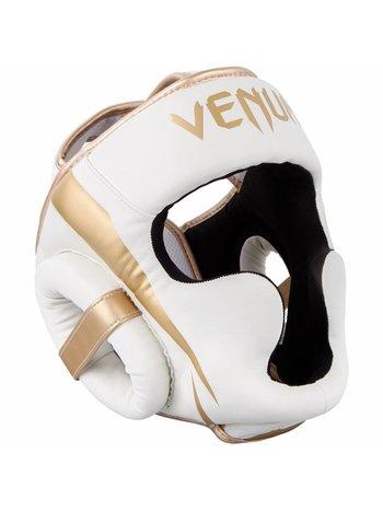 Venum Venum Elite Headgear White Gold Head Protection