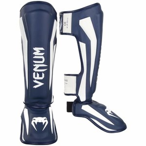 Venum Venum Stand Up Kickboxing Shinguards Elite Navy Blue White
