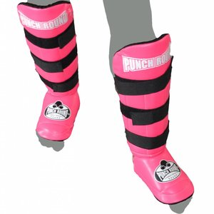 Punch Round™  Punch Round Kickboxing Shin Guards Experience Luxury PU Pink