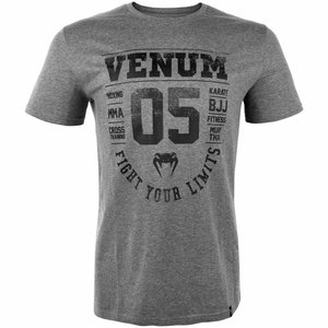 Venum Venum Origins T Shirt Grey Black Venum Clothing