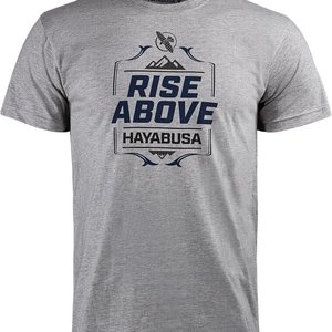 Hayabusa Hayabusa T Shirt Rise Above Grey by Hayabusa Fightwear
