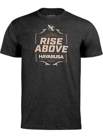 Hayabusa Hayabusa T Shirt Rise Above Black Vechtsport Kleding
