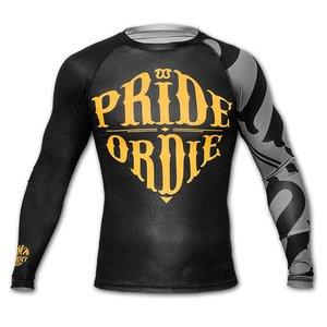 Pride or Die PoD Rash Guard L/S PRiDEORDIE RECKLESS Schwarz Grau