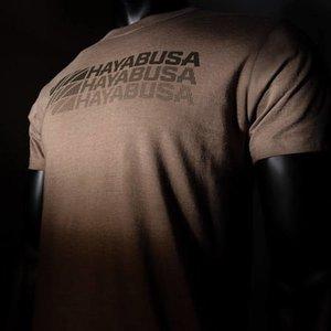 Hayabusa Hayabusa T Shirt Triple Threat Brown Martial Arts Clothing