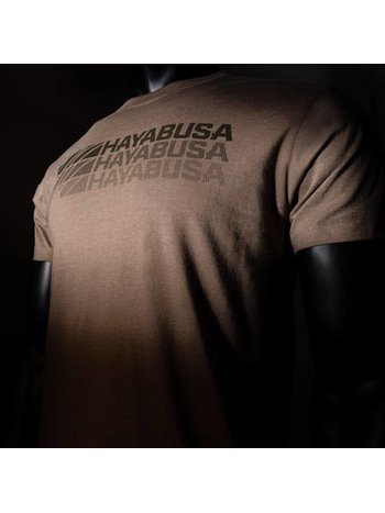 Hayabusa Hayabusa T-shirt Triple Threat Bruine vechtsportkleding