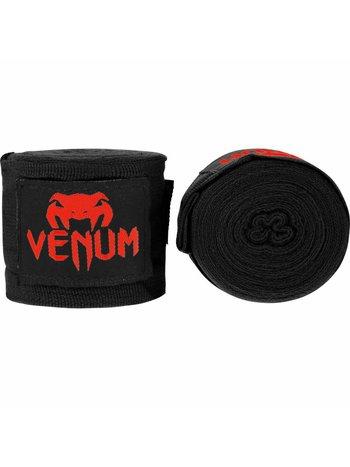Venum VenumHand WrapsKontact Boxbandagen Schwarz Rot 2.5m