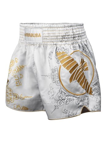Hayabusa Hayabusa Falcon Muay Thai Kickbox Shorts Weiß