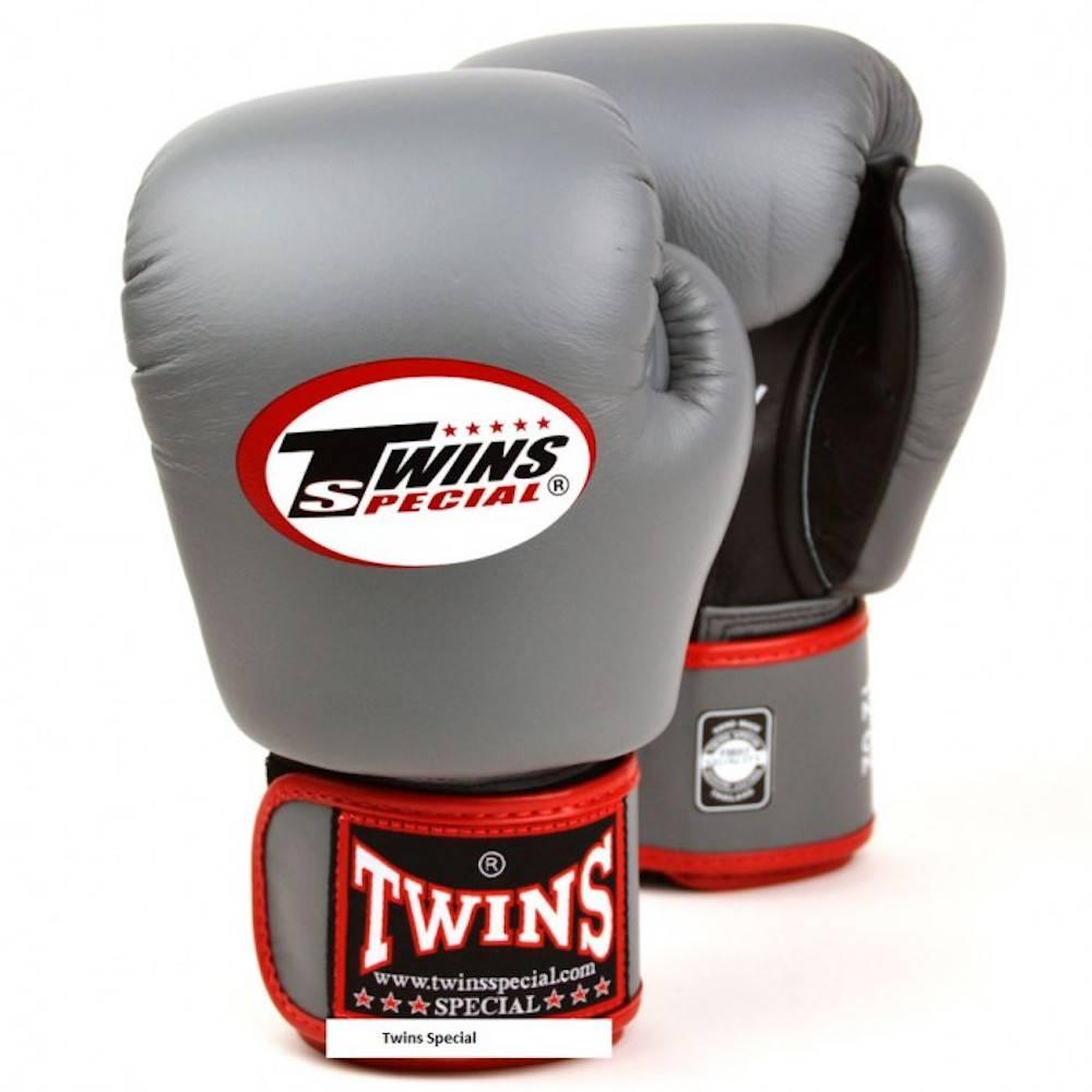 Twins Special Boxhandschuhe Leder AIR wei/ß-schwarz