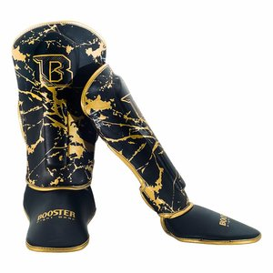 Booster Booster SG Youth Kickboxing Shinguards Marble Gold
