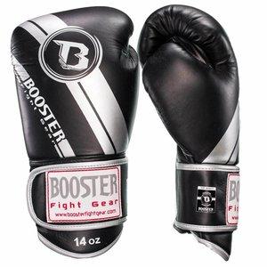 Booster Booster Pro Range Boxing Gloves BGL 1 V3 Black Silver Foil