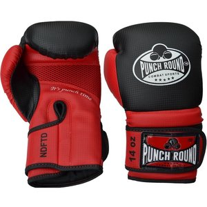 Punch Round™  Punch Round Boxing Gloves Combat Sport Carbon Black Red