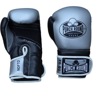 Punch Round™  Punch RoundCombat SportsBoxing Gloves Silver Black