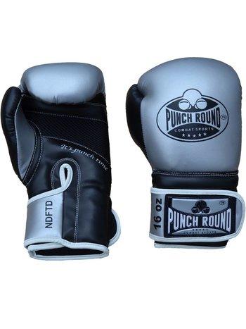 PunchR™  Punch RoundBokshandschoenen Combat Sports ZilverZwart