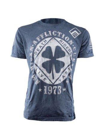 Affliction Clothing Affliction Lucky Shot T-Shirt Blau