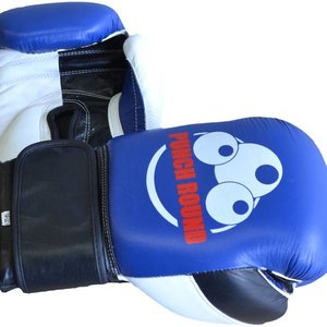 Punch Round™  Punch Round ™ Strike Boxing Gloves Leather Blue White