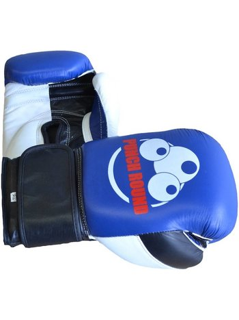 PunchR™  Punch Round ™ Strike Boxing Gloves Leather Blue White