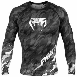 Venum Venum Tecmo Rash Guard L/S Dark Grey Compression Shirt
