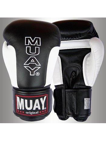 MUAY® MUAY® Premium Boxhandschuhe aus Leder Schwarz Weiß