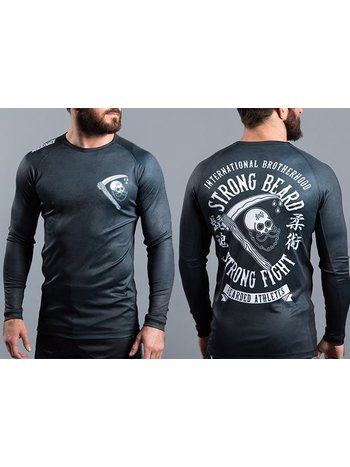 Scramble SCRAMBLE Strong Beard Rash Guard Black