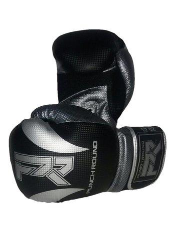 PunchR™  Punch Round Bokshandschoenen SLAM Mat Carbon Zwart Zilver