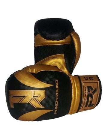 PunchR™  Punch Round SLAM Boxing Gloves Dull Carbon Black Gold