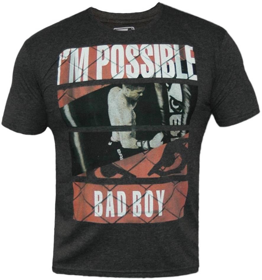 Bad Boy News Fight Club T Shirts Charcoal Mma Clothing Fightwear