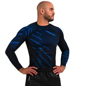 Hayabusa Hayabusa Odor Resist Rash Guard L/S Blauw MMA Shop