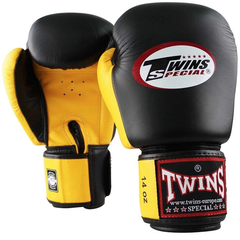 Twins Special Twins Boxing Gloves BGVL 3 Black Yellow Twins Special Fight Gear