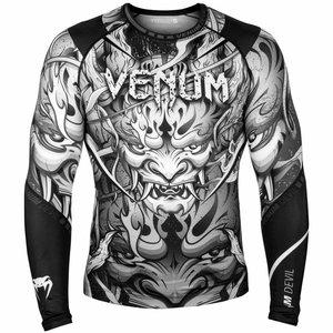 Venum Venum Devil Compression Shirts Rashguard L/S Wit Zwart