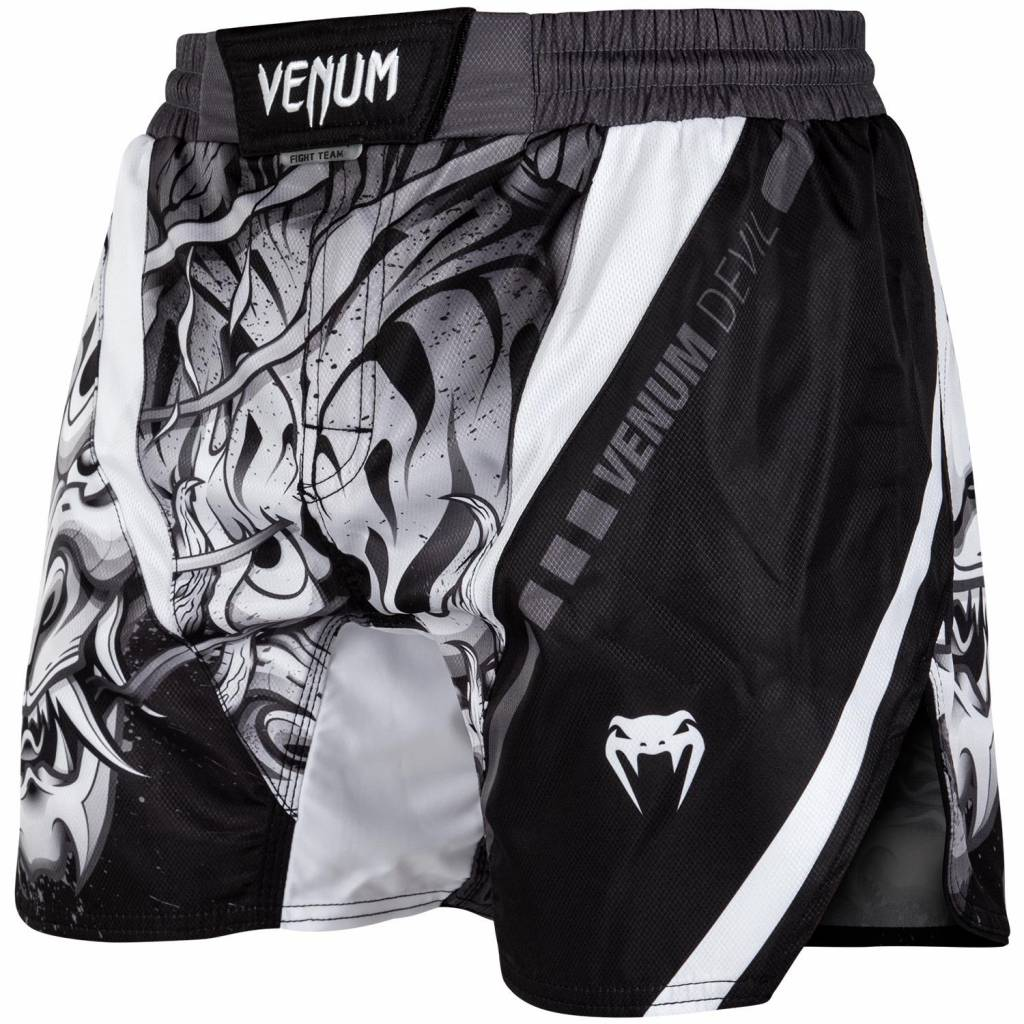 VENUM DEVIL FIGHT SHORTS WHITE BLACK