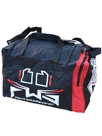 Fightwear Shop FWS Martial Arts Training Sporttasche Small Schwarz Rot Weiß
