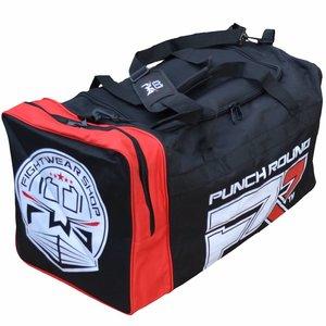 Fightwear Shop FWS Martial Arts Training Sporttasche XL Schwarz Rot Weiß