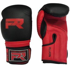 """Punch Round™  Punch Round Bokshandschoenen """"LOGO"""" Mat Carbon Zwart Rood"""