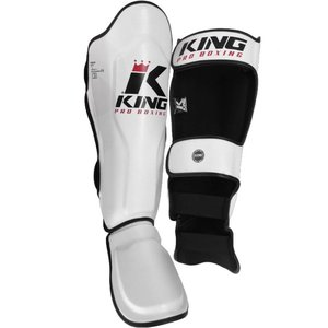 King Pro Boxing Kickboxing Shinguards King Pro Boxing KPB/SG-3 White