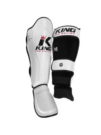 King Pro Boxing Kickboks Scheenbeschermers King Pro Boxing KPB/SG 3 Wit