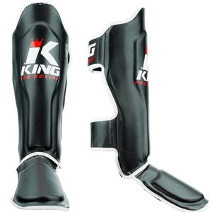 King Pro Boxing Kickboxing Shin Guards King Pro Boxing KPB/SG 1 Black