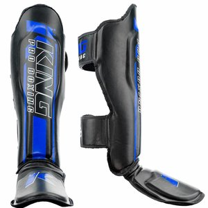 King Pro Boxing King Pro Boxing KPB/SG Elite 2 Shinguards Black Blue
