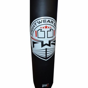 Fightwear Shop FWS Bokszak Vinyl 150x35 gevuld incl Ketting Zwart