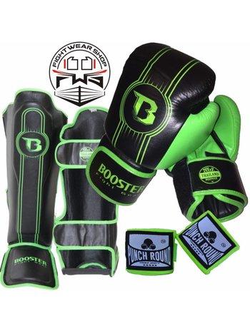 Booster Booster Fight Gear Pro Range Kickboxing Set BGL 1 V6 Schwarz Grun