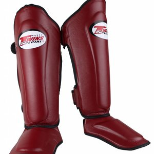 Twins Special Twins Kickboxing Shinguards SGL 7 Wine Red Muay Thai Gear