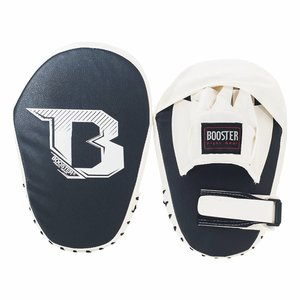Booster Booster PML B Kickboxing Pads Muay Thai Curved Mitts Black White