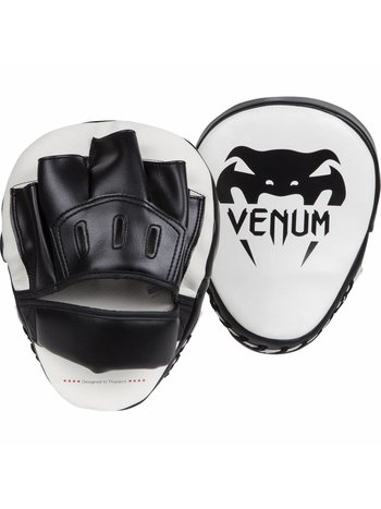 Venum Venum Light Focus Mitts White Black (Pair)
