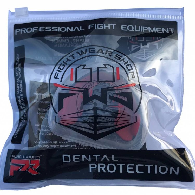 Fightwear Shop FWS Mouthguard incl Free Zipper Bag Black Blue